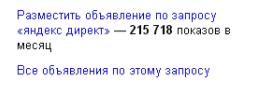все объявления Яндекс Директ